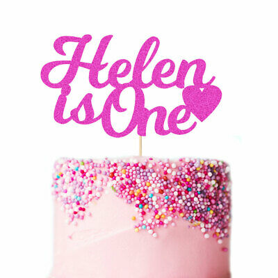 Personalised Cake Topper Glitter Any Age Name Custom 1st First Birthday