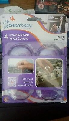 Dreambaby Child's Safety Oven Stove Knob Cover - X4 Pack