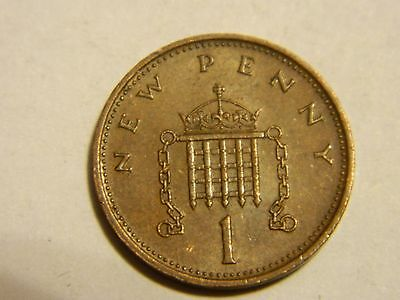 1971 Great Britain One Cent Penny-----Lot #2501