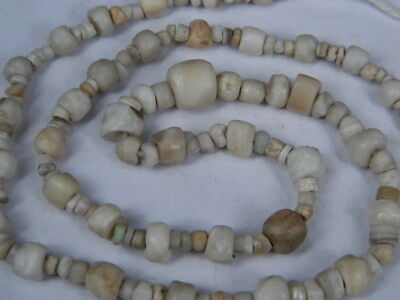 "Ancient  Bactrian Bone Beads Strand C.300 Bc  """"E5251"""""