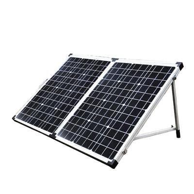 12V 120W Folding Solar Panel Mono MPPT Boat Camping Power Charging Kit Battery