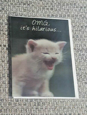 Funny cat birthday card funny face grumpy cat greeting card animal happy birthday greeting card humourfunny black holographic catkitten bookmarktalkfo Image collections