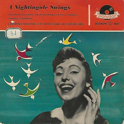 """Caterina Valente"""" A Nightingale Swings  """" 7"""" Ep Germany Pres"""