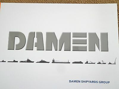 Damen Ship Yards Mega Yacht Support Vessels Tugs Naval Marketing Brouchure Color