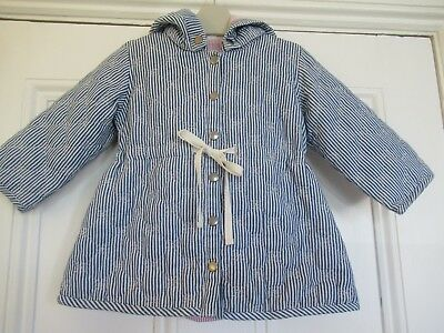 18-24m: Cute stripey coat: perfect for autumn: Organic cotton: Little Wings
