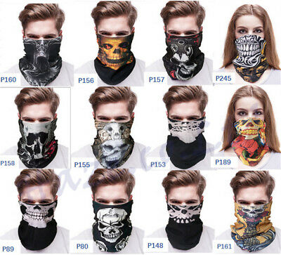 Multi use Bandana Tube Scarf Snood Biker Balaclava Cycling Neck Gaiter  Mask New