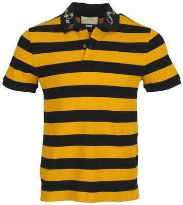 67d5f213 New Gucci Men's Current Kingsnake Bee Embroidery Cotton Stretch Polo Shirt L