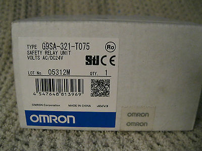 Omron G9Sa-321-T075  Safety Relay Unit Volts Ac/dc 24 V