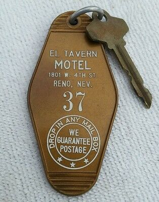 Vintage Key Fob with Key El Tavern Reno NV Room 37