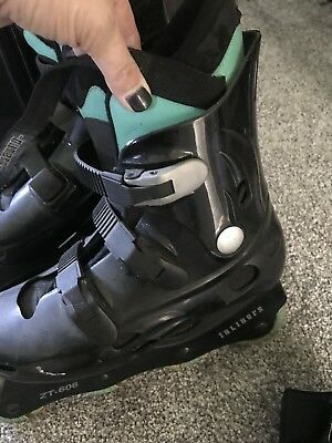Roller Blades Size 6 + Hand Protectors All Excellent Condition