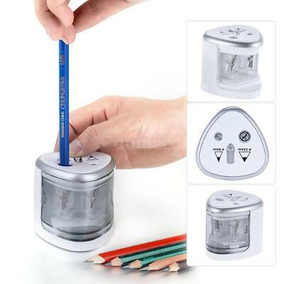 Tenwin Electric Pencil Sharpener Stationery Safety Automatic Battery Power J9U2