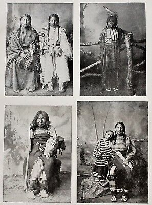 1895 Oklahoma Cheyenne Arapaho Indians Native American Printed Photo ORIGINAL