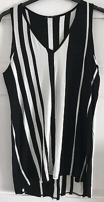 NEW with tags Wallis Uk Small Black And White Striped Top