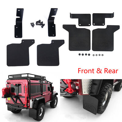 Front & Rear Mud Flaps Rubber Fender for 1/10 RC TRAXXAS TRX-4 D110 Defender