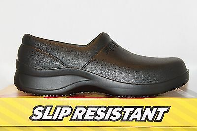 Mens Fila GALVANIZE SR Rubber Slip On Resistant Non Skid Work Clogs Shoes Black