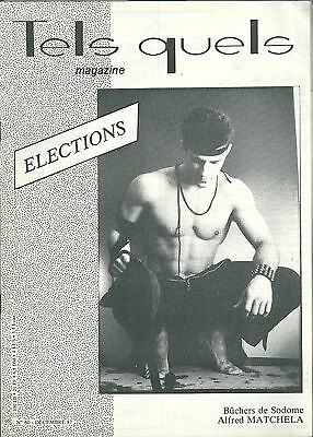 Tels Quels # 60 1987 Gay homosexualité Election Lever Matchela Antenne rose
