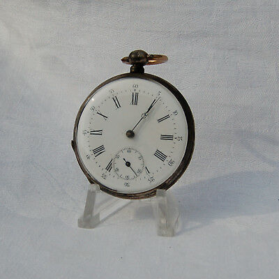Silver Antique Pocket Watch . Key wind. For repair.