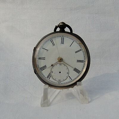M I Tobias & Co . Year 1846 .Silver Antique Pocket Watch . Key wind. For repair.