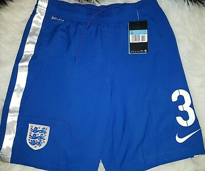 Mens Nike England blue dri fit training beach Shorts Football Soccer size M nr 3