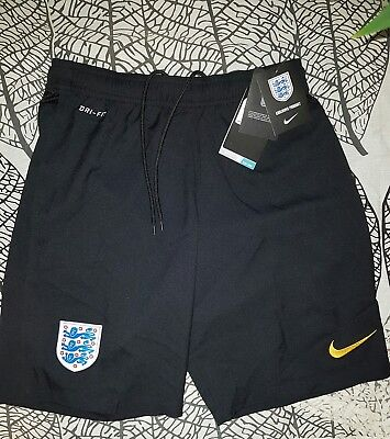 Men's Nike England black/yellow dri fit gym train Shorts Football Soccer size xl