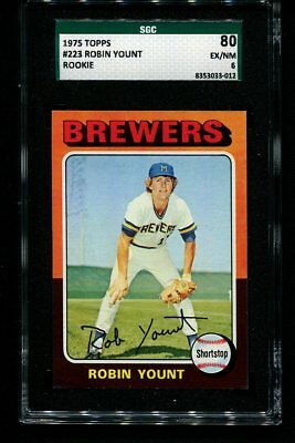 1975 Topps ROBIN YOUNT Rookie RC Brewers #223 SGC 6 Looks NNMT