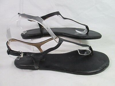 5d8dfd3494b Splendid MASON Leather Thong Ankle Sandals Black Sz 10.25Lx3.75Wx2.125  apprx.
