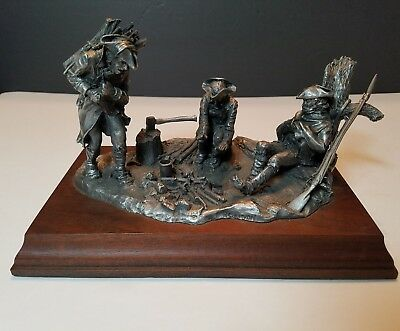 Rare WALLACE PEWTER R SULLIVAN WINTER AT VALLEY FORGE WAR SCULPTURE 538/1000