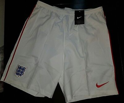 Nike England Shorts Mens Challenge white Dri Fit Football Soccer gym size L SALE