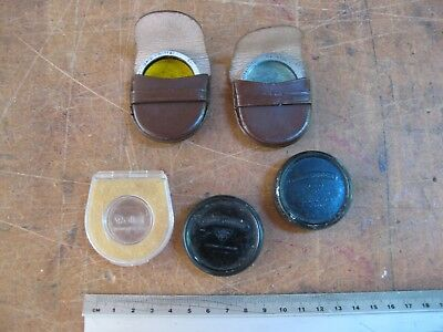 ROLLEI FILTERS in leather pouches and 2 empty cases
