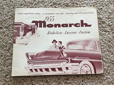 1955 canadian mercury Monarch original dealershi psales handout