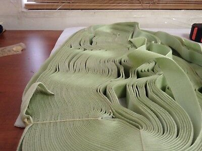 "20 Yards Lime Green 7/8"" HANK Vintage Silk Rayon Satin Back Velvet Ribbon"