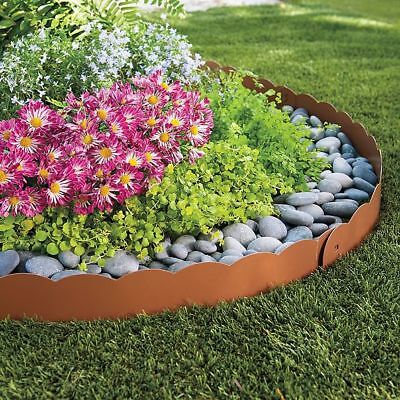 3 h metal landscape edging lawn edge border flower garden circle