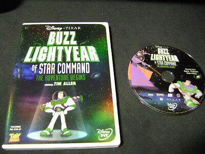 Buzz Lightyear of Star Command: The Adventure Begins (DVD, 2000) NO INSERT