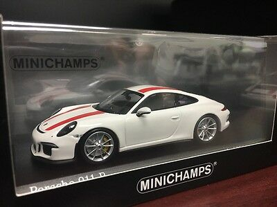 New 1/43 Minichamps Porsche 911(991) R 911R White Red Stripe 504pcs