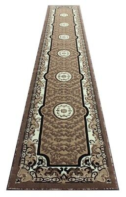 "Masada Rugs Beautiful Traditional Area Rug Runner Design, 32 "" x 19' x 8"", Beige"