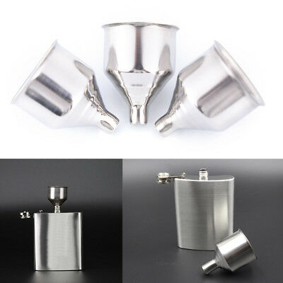 2Pc 8mm Stainless Steel Wine Funnel For All Hip Flasks Flask Filler Wine GX