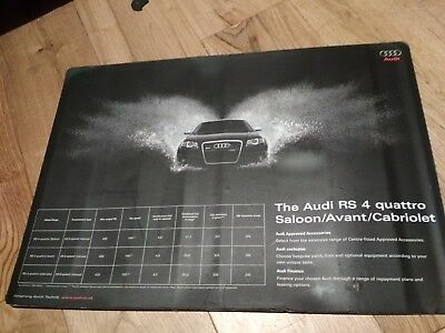 Audi RS4 poster 40x25 cm magnetic back,original audi advertising for collectors