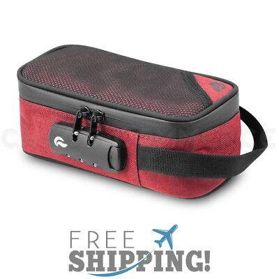 Skunk Sidekick Smell Proof Case with Combo Lock - Red