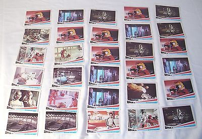 SPACE 1999 SCIENCE-FICTION série télé Lot de 142 cartes à échanger 1976 DONRUSS