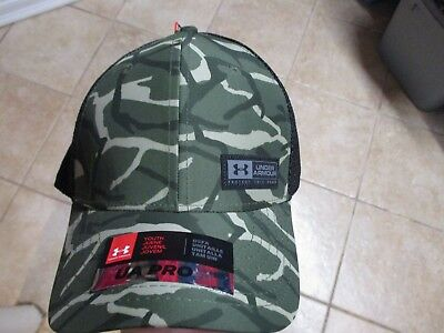 "Under Armour Pro (Youth) ""heat Gear"" Snapback Mesh Back Hat (Youth) Green Camo"
