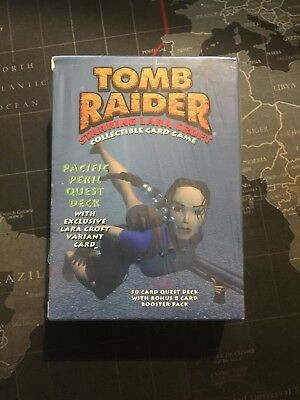 Tomb Raider CCG Pacific Peril Quest Deck Sealed - Limited Edition Cards TCG