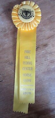 Vintage Pine Hill Riding Center Horse Show Yellow Ribbon March 13 & 14 1976