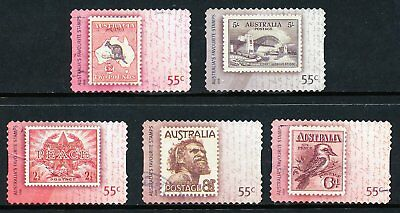 Australian 2009 Australia's Favourite Stamp, set of 5 S/A stamps, used