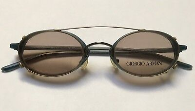 GIORGIO ARMANI 2014 Col 291 46x21 VINTAGE SUNGLASSES!! wi CLIP-ON BRAND NEW!!