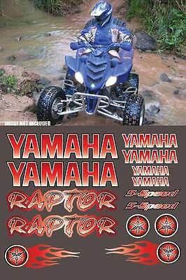 Yamaha Raptor Full Color RED DIGITAL 16pc Quad ATV Decal Graphics Sticker 660R,