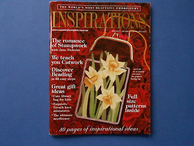## Inspirations Magazine - Issue 31 - Patterns Attached - Like New - Embroidery