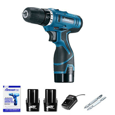 16.8V Electric Screwdriver Power Cordless Drill kit 2 Speed Rechargeable Battery