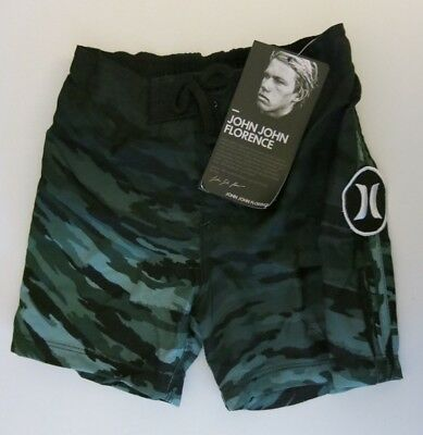 Hurley Infant Toddler Boy's Green Camo Board Short Swim Bottoms 12M/18M/24M  NWT