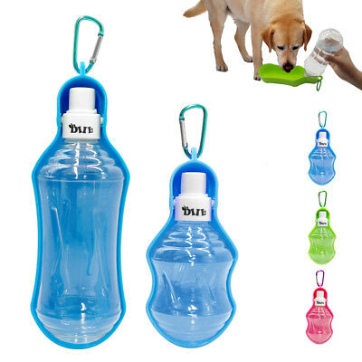 Portable Pet Dog Bottle Outdoor Travel Water Bowl Feeder Drinking 250/500ML