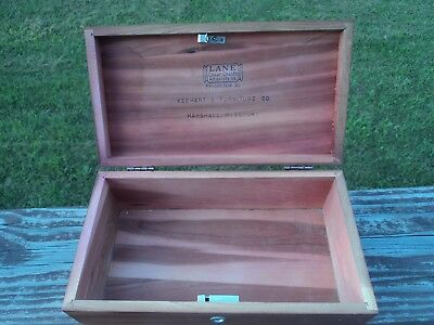 Vintage Lane Miniature Cedar Chest Salesman Sample Jewelry box